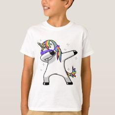 Dabbing Unicorn T-shirt at Zazzle