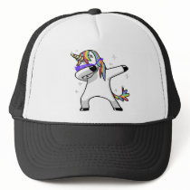 Dabbing Unicorn Trucker Hat