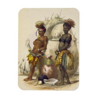 Dabiyaki and Upapazi, Zulu Boys in Dancing Dress, Rectangular Photo Magnet