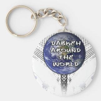 Dabkeh Around The World (with splatter brush) Keychain