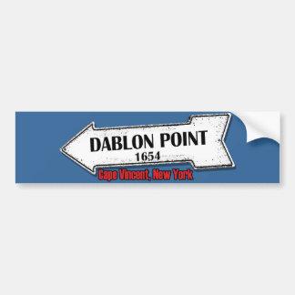 Dablon Point Sticker Car Bumper Sticker