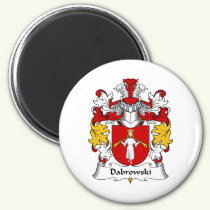 Dabrowski Family Crest Magnet