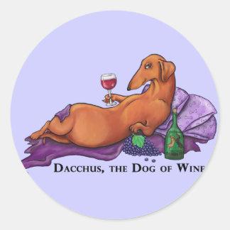 Dacchus Dog of Wine Classic Round Sticker