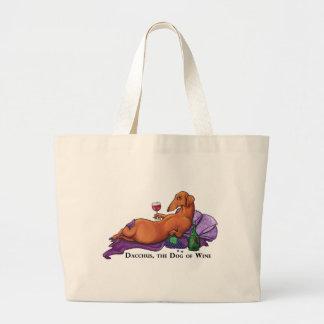 Dacchus Dog of Wine Jumbo Tote Bag