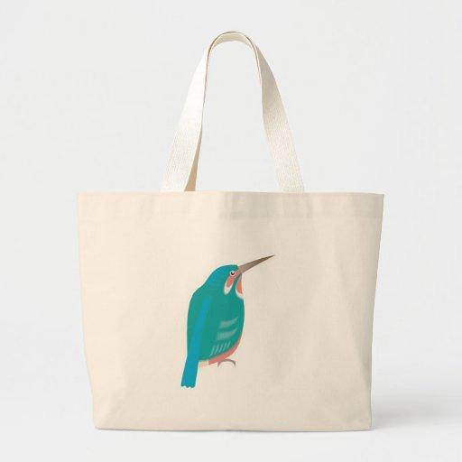 dacelo bird jumbo tote bag