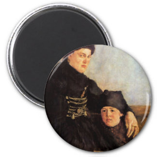 Dachauerin With Child By Leibl Wilhelm Magnets