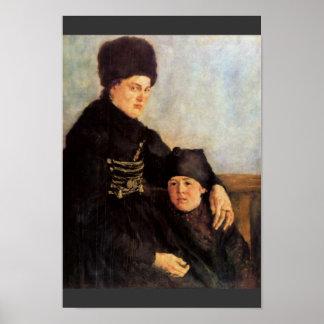 Dachauerin With Child By Leibl Wilhelm Print