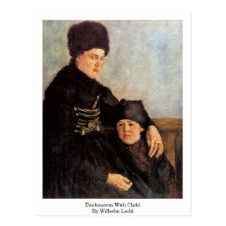 Dachauerin With Child By Wilhelm Leibl Postcard