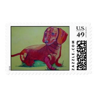 Dachschund Postage Stamps