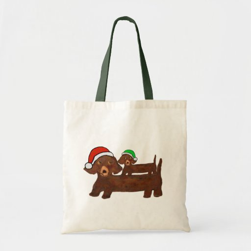Dachshing all the Way Budget Tote Bag