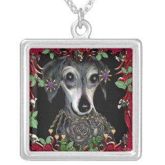 Dachshound Weiner Dog Silver Plated Necklace