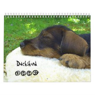 ¡Dachshund 2009 - calendario adaptable!