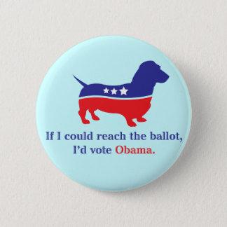 Dachshund 4 Obama Button