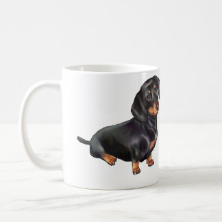Dachshund (A) - Black and Tan Classic White Coffee Mug