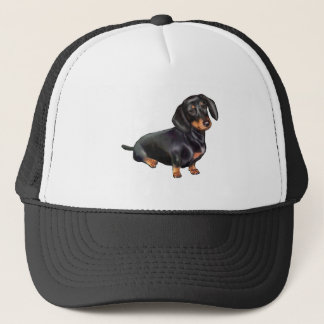Dachshund (A) - Black and Tan Trucker Hat