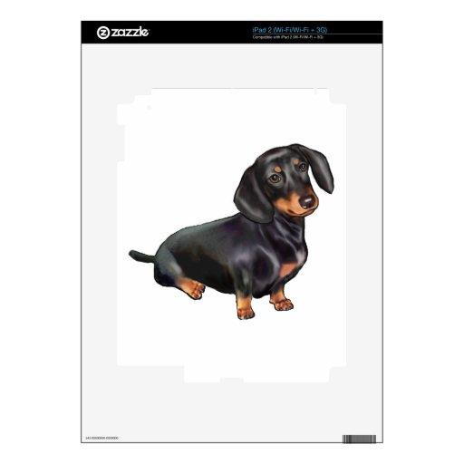 Dachshund (a) - Negro y moreno iPad 2 Skins