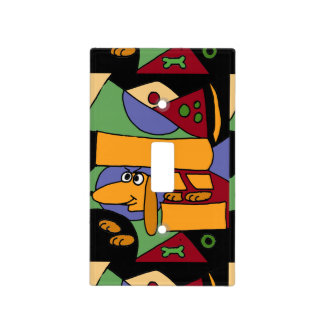 Dachshund Abstract original Art Light Switch Covers