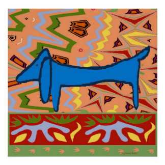 Dachshund, Abstract Style Dog Poster