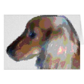 Dachshund abstracto tarjeta de felicitación