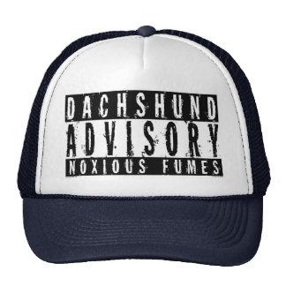 Dachshund Advisory Noxious Fumes Trucker Hat