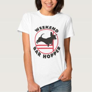 Dachshund Agility Weekend Bar Hopper T Shirt