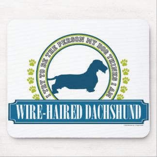 Dachshund [alambre cabelludo] tapetes de ratones