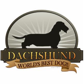 Dachshund [Alambre-haired] Fotoescultura Vertical