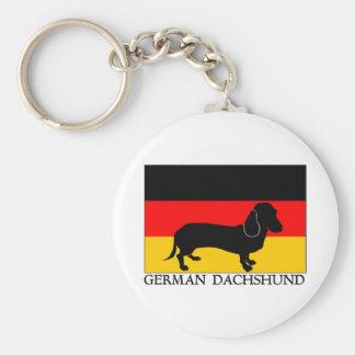 Dachshund alemán llavero redondo tipo pin
