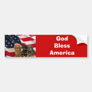 Dachshund America Bumper Sticker Car Bumper Sticker