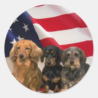 Dachshund America Sticker