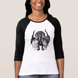 DACHSHUND AND CATS T-SHIRT