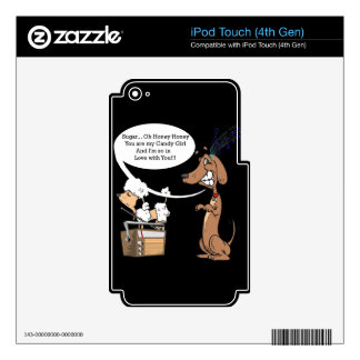 Dachshund and Poodle Candy Girl iPod Touch 4G Decal