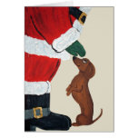 Dachshund And Santa Cards