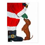 Dachshund And Santa Post Cards