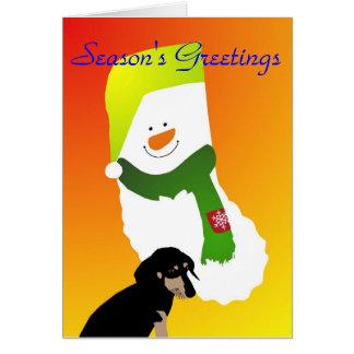 Dachshund-Approved Season's Greetings Card