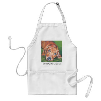 dachshund APRON OFFICIAL TASTE TESTER