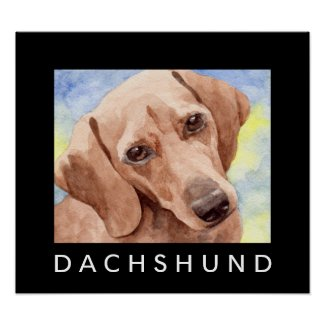 Dachshund Art Dog Posters