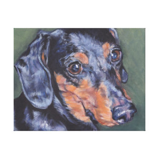 dachshund Art Painting on Gallery Wrapped Canvas
