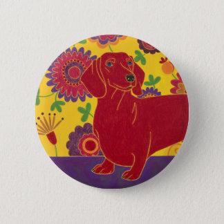 Dachshund Art Pinback Button