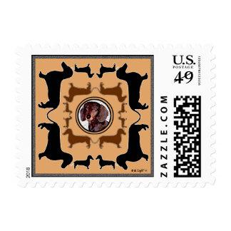 Dachshund  Art stamp