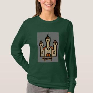 Dachshund At Cathedral T-Shirt
