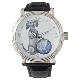 Dachshund azul del sauce relojes de mano