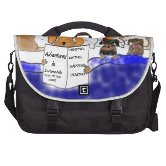 Dachshund Bedtime Story Commuter Bags