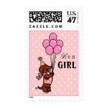 Dachshund Birth Announcement Postage Stamp