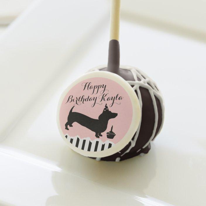 Excellent Dachshund Birthday Cake Pops Zazzle Com Funny Birthday Cards Online Unhofree Goldxyz