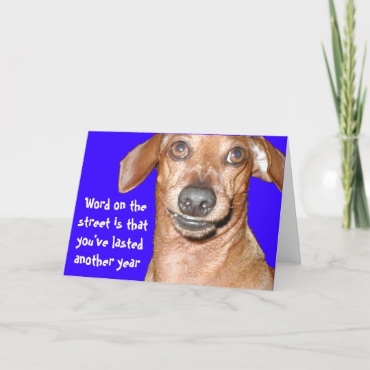 Dachshund Birthday Card Zazzle Com