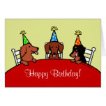 Dachshund Birthday Cartoon Card