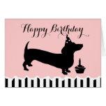Dachshund Birthday Greeting Cards