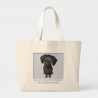 Dachshund (Black and Tan) Favorite Large Tote Bag