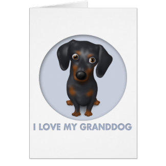Dachshund (Black and Tan) Granddog Card